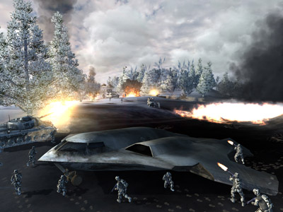 World in Conflict - Trailer and Screen Shots (PC) - 15 wic both crashfight