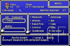 FINAL FANTASY V ADVANCE Launches Across Europe on the Game Boy Advance (GBA) - 23 FF5 09