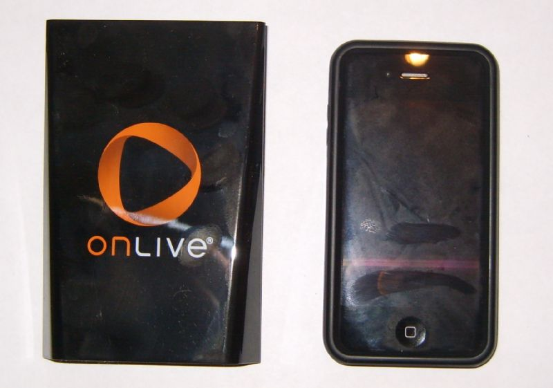 OnLive Size Comparison to iPhone