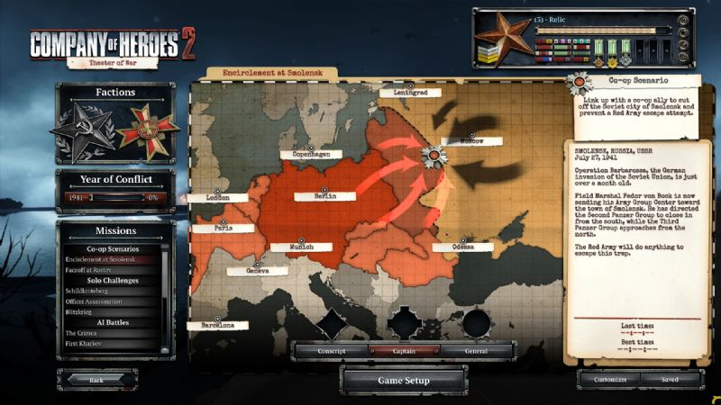 Company of Heroes 2 Unveils Theatre of War Mode (PC) - 27970SS01 German