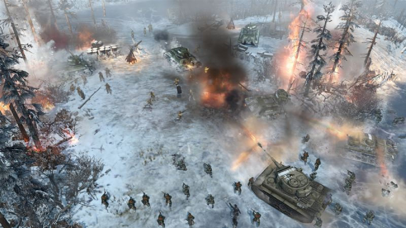 Company of Heroes 2 Unveils Theatre of War Mode (PC) - 27972SS03ToW Gameplay Shot(Snow enviro)
