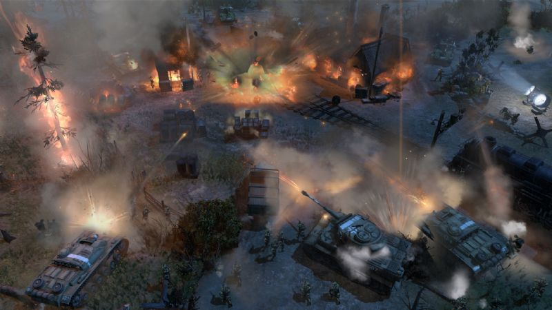 Company of Heroes 2 Unveils Theatre of War Mode (PC) - 27973SS04 ToW Gameplay Shot (Night)
