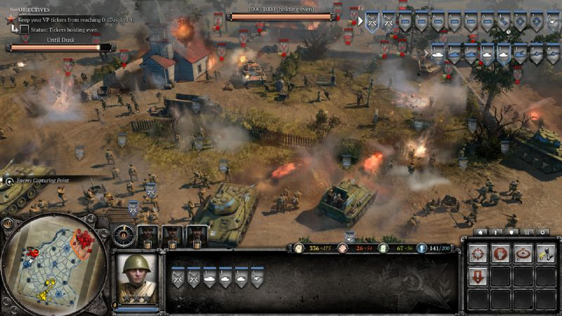 Company of Heroes 2 Unveils Theatre of War Mode (PC) - 27977SS07 ToW HUD Shot 1