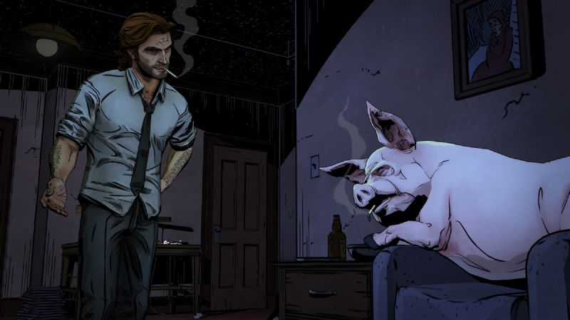 First Screenshots for Telltale Games' Upcoming Series 'The Wolf Among Us' - TheWolfAmongUs 002 Bigby Colin Apartment