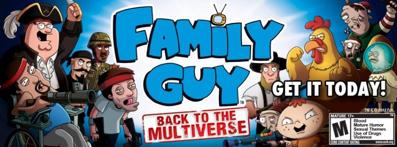 Family Guy: Back to the Multiverse in Retail Stores Today - 423019 455299444526299 1804537364 n