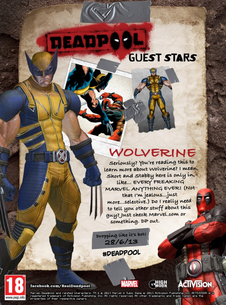 Deadpool Talks about Wolverine in his new game. - 4284Deadpool Wolverine PEGI