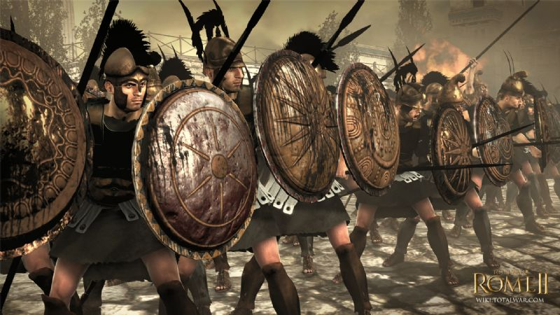 Total War: Rome 2 Faction Reveal - Introducing the Macedon! - Macedon Shield Bearers