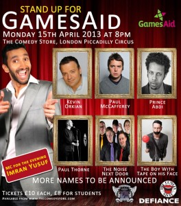 Stand Up for Gamesaid's Comedy Night
