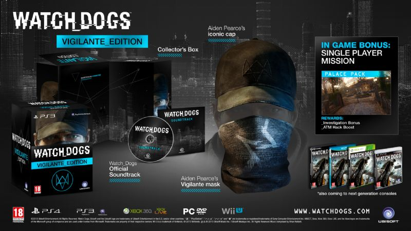 Watch_Dogs Release Date and Collector's Editions Details - WD VIGILANTE EDITION mockup UK