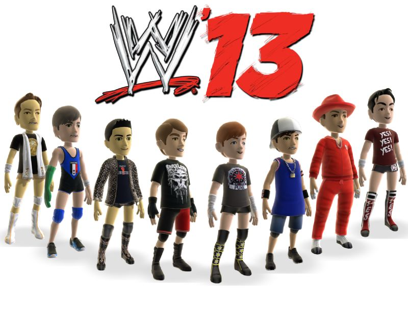 Got an xbox...love WWE? - WWE  13 Current Superstars Avatars Background Image copy
