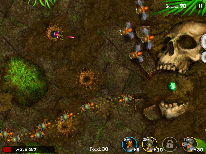Anthill: Tactical Trail Defense Review (IOS) - 1147 precision bombing
