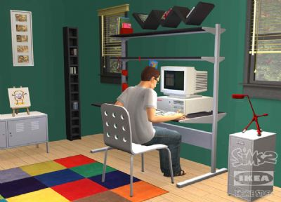 THE SIMS ANNOUNCES THE SIMS 2 IKEA HOME STUFF COMING IN JUNE (PC) - 1154 ts2ikpcscrngreenofficewm psd jpgcopy