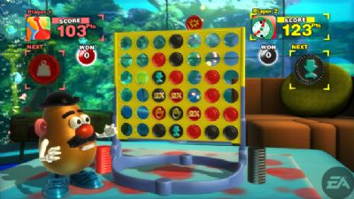 EA BRINGS FAMILY BOARD GAME FAVORITES TO THE WII AND PLAYSTATION 2 WITH HASBRO FAMILY GAME NIGHT VIDEO GAME (PS2, WII) - 1158 connect4 awatermark