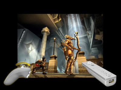 PRINCE OF PERSIA RIVAL SWORDS HAS SHIPPED (PSP, WII) - 126 POP RS Prince behind archer