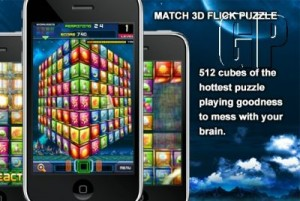 "PlayScreen Takes Puzzle Gaming to the Third Dimension with ""Match 3D Flick Puzzle"" for the iPhone (GADGETS)"