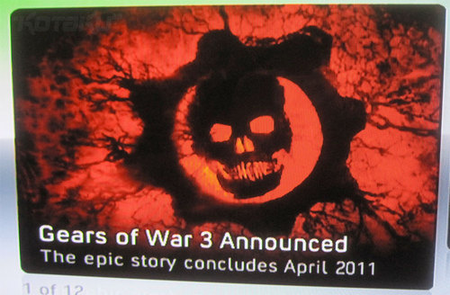 Gears of War 3 unofficially announced for April 2011 -