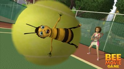 Bee MovieTM Game Demo Debuts On Xbox Live Marketplace (360) - 488 Bee Movie Game Barry Stuck on Ball with logo