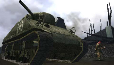 Call of Duty: Roads to Victory (PSP) - 49 CODRTV   Sherman Tank