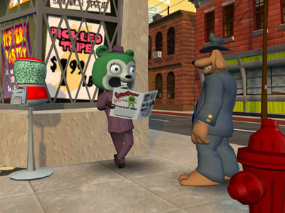 Sam & Max Episode 3: The Mole, the Mob, and the Meatball Review (PC) - 77 ep3 street