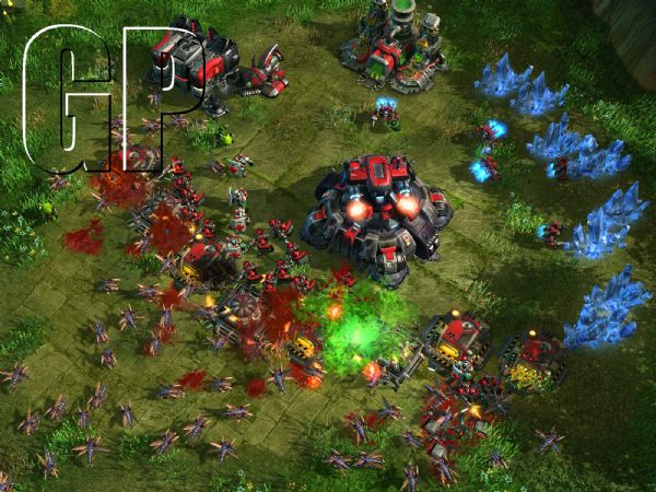 StarCraft II - Wings of Liberty Review (PC) - 922 Zergling and Banelings overrun a Terran base