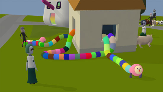 Noby Noby Boy Review (PS3, PSN) - 990 nobyhouse