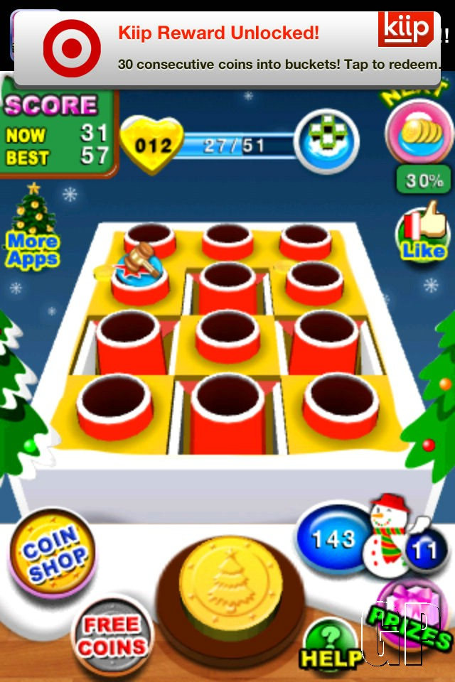 The Christmas spirit isn't that money driven with 'Coin Flick Christmas' (IOS) - Coin Flick Christmas (iOS)   07