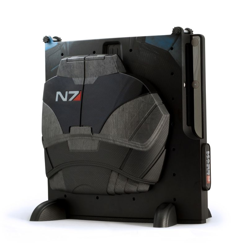 Don your console with some N7 armour, with Calibur11's 'Mass Effect 3' console vaults (360, PS3) - c11 me3 ps3 front white