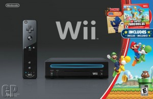 Wii – Back in Black for Christmas with Mario Kart Bundle (WII)