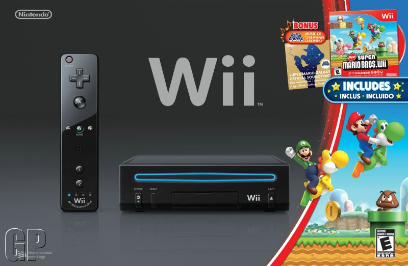 Wii - Back in Black for Christmas with Mario Kart Bundle (WII) - i 31130