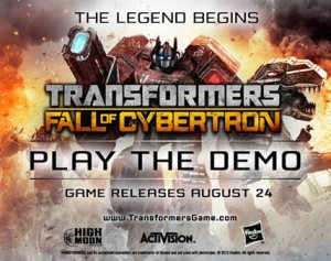 Transformers: Fall of Cybertron – Demo Out