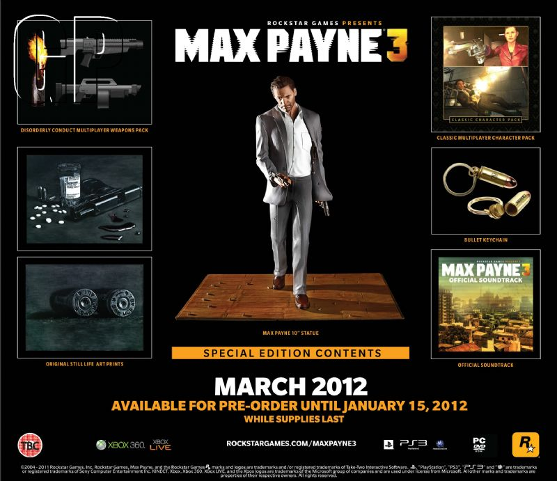 'Max Payne 3' special edition announced (360, PC, PS3) - mp3 grid eng