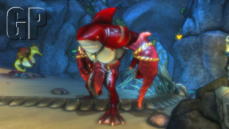 Aquanos is in need of some help in the new 'Dungeon Defenders' DLC (PSN, XBLA) - sharkman