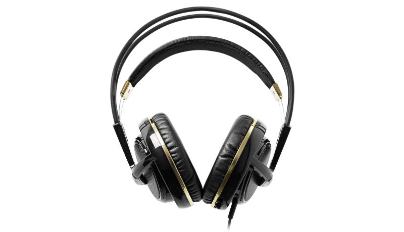 SteelSeries Siberia v2 Black & Gold Anniversary Edition Available Now! - steelseries siberia v2 black gold plated front image