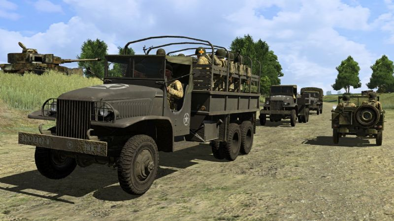 The Fight For Freedom Is Not Yet Over (PC) - ironfront d day pc all screenshot005 us convoy