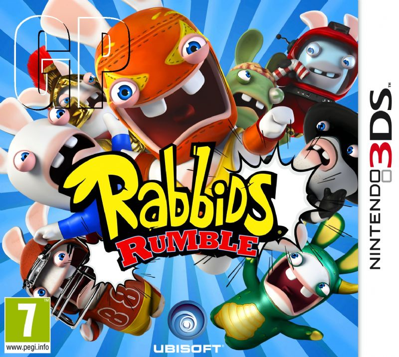 Let's get ready to 'Rabbid's Rumble' on the 3DS (3DS) - RR 3DS pack 2D PEGI