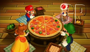'Pizza Me, mario! is the minigame depicted above. Nintendo's love of bad puns remains intact then.