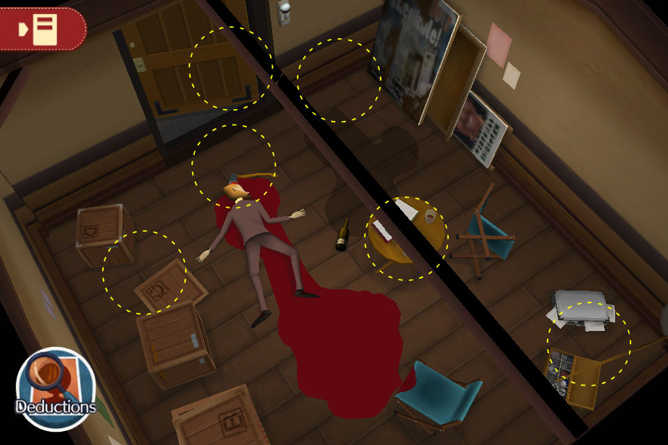 Layton Brothers Mystery Room out now - mr crime scene screen 02