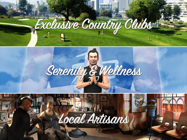 GTAV Official Site Update: Exclusive Country Clubs, Local Artisans, Serenity & Wellness... - image001
