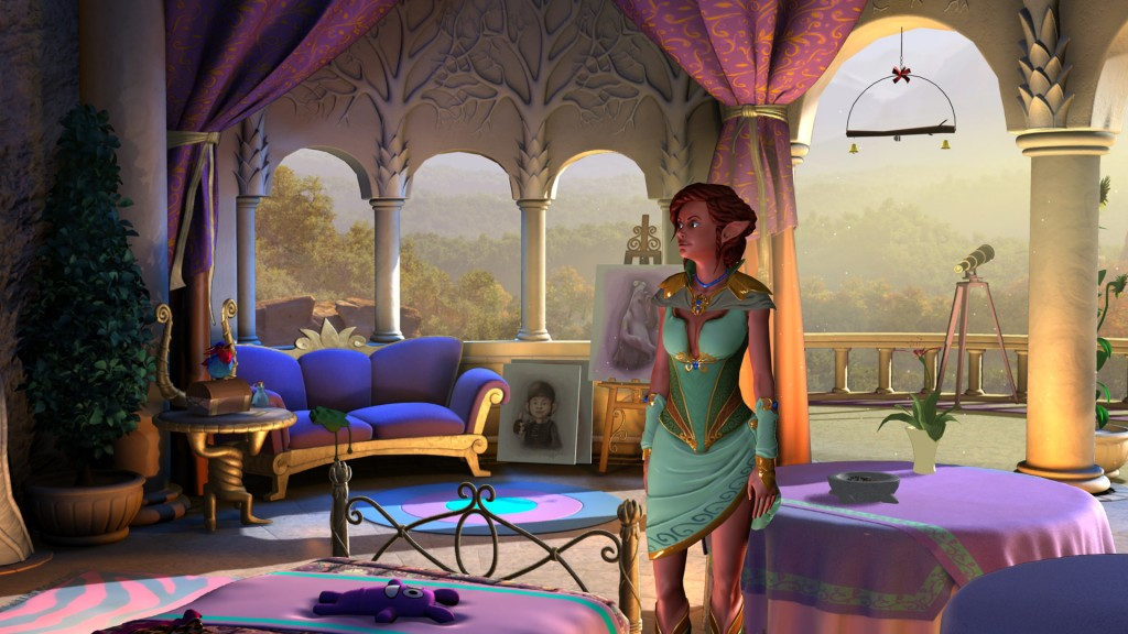 The Book of Unwritten Tales 2 Kickstarter achieved stretch goal #2 - elven palace bedroom