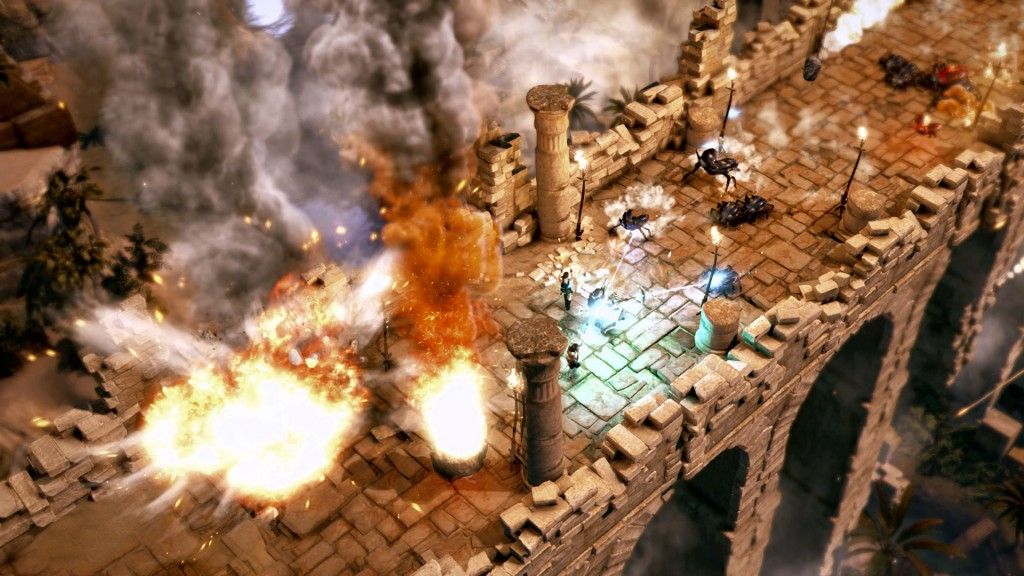 Crystal Dynamics unveils Lara Croft and the Temple of Osiris  - bridge battle zoom 1402335552