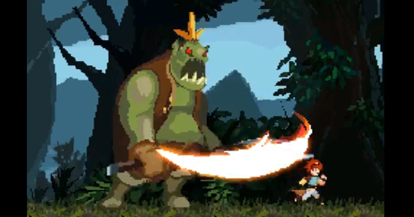To Challenge a God - 2D platformer on Kickstarter - ogre strike