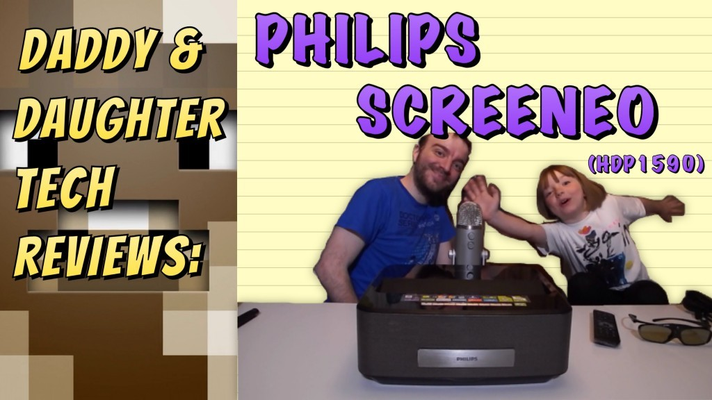 Philips Screeneo Short-Throw Projector: A Daddy/Daughter Tech Review - moobitmedia philips screeneo unboxing daddy daughter review