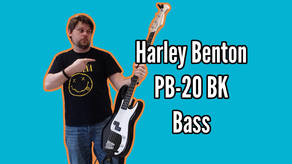 Harley Benton PB-20 BK Bass Demo And Review - Bass Review Title